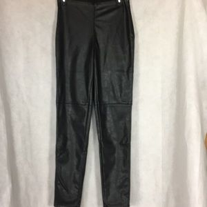 Divided black pleather pants Size 10